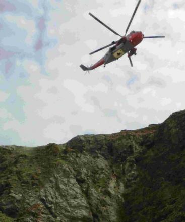 Brothers injured in 70ft cliff fall at Perranporth