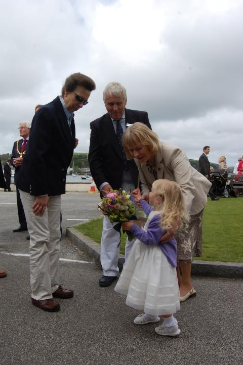 Royal visit for Falmouth yacht club