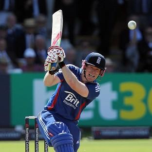 England's Eoin Morgan bats during the first One Day International match at Lord's