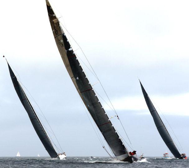 Action from the J Class Regatta