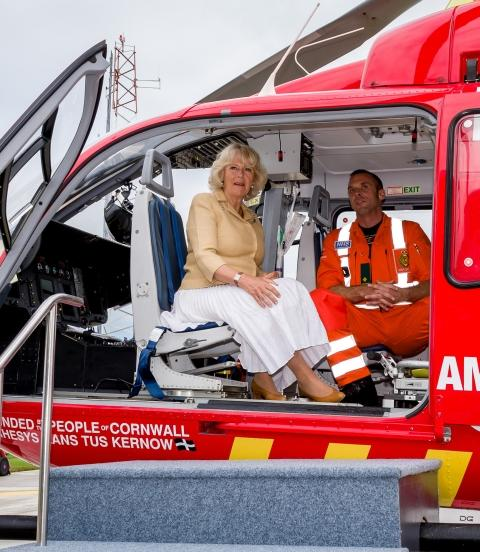 Duchess of Cornwall visits new Cornwall Air Ambulance base