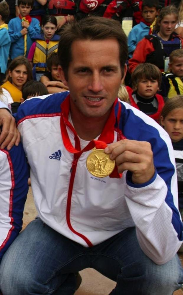Ben Ainslie with his last Olympic Gold Medal