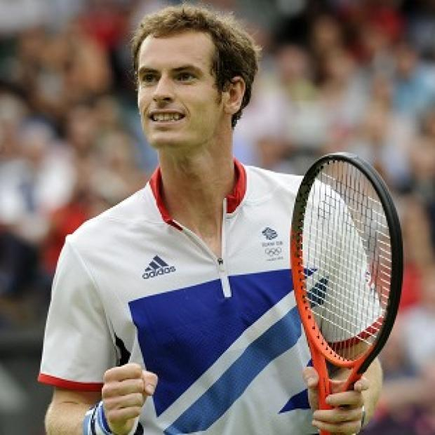 Andy Murray, pictured, beat Switzerland's Stanislas Wawrinka 6-3 6-3 to advance to the next round