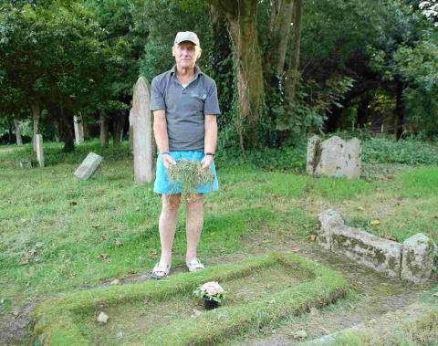 Paul Fehrenbach has spent more than four decades tending the graves of his family
