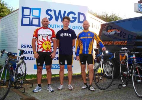 Helston trio's charity ride