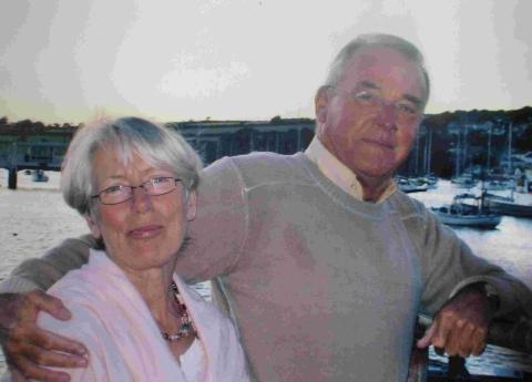 Anne Hobkinson with her husband of 40 years Tom