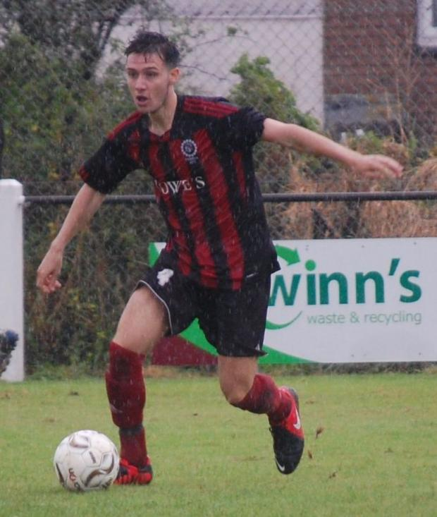 Penryn's young midfielder Ryan Chinn