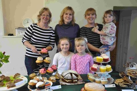 Tasty treats at Gunwalloe charity coffee morning