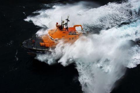The Penlee lifeboat in action. Credit: RNLI