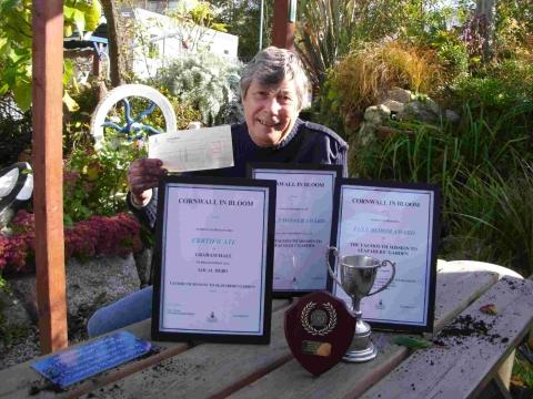Falmouth Mission to Seafarer's garden wins 'In Bloom' award