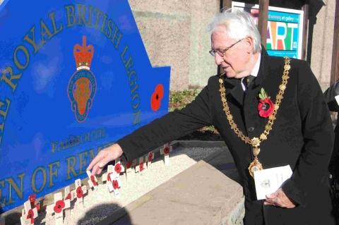 First poppies laid at Falmouth Garden of Remembrance: PICTURES
