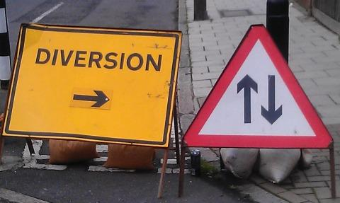Falmouth temporary traffic lights and diversions to stay until Sunday