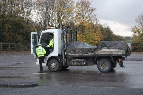Rule-flouting Polish truck driver arrested on the A30