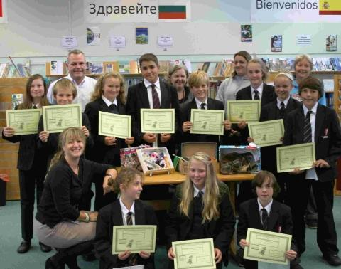Falmouth School pupils's memory box project