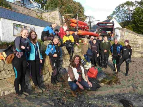 Kayakers find nets, cans and even a garden fork on Helford River clean up