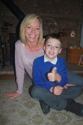 Josh Mills, of the Packet's Footprints campaign, with his mum Jo.
