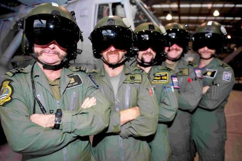Culdrose crews massive moustaches for one day only