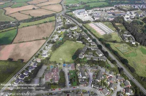 An artist's impression of what the proposed 90-home development at Mabe will look like.