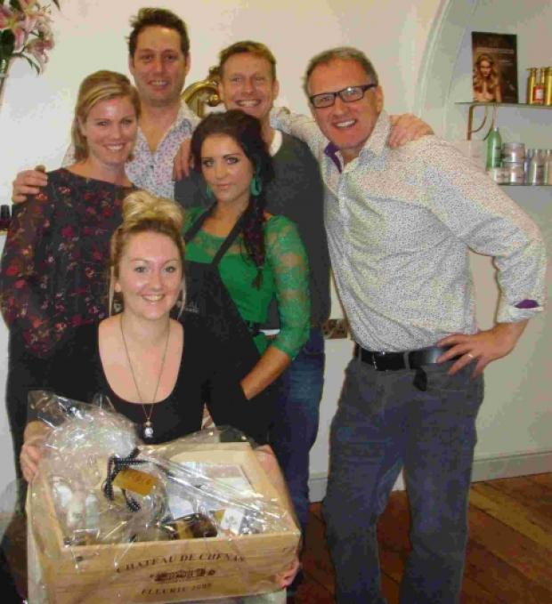 Truro hair salon's bumper hamper for Falmouth fundraiser