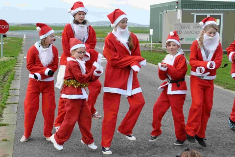 On your marks, get set, Ho Ho Ho!: Culdrose Santa Fun Run
