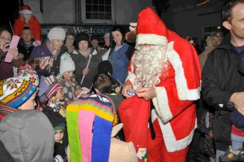 'Saints and Angels' at Mullion Christmas lights celebration