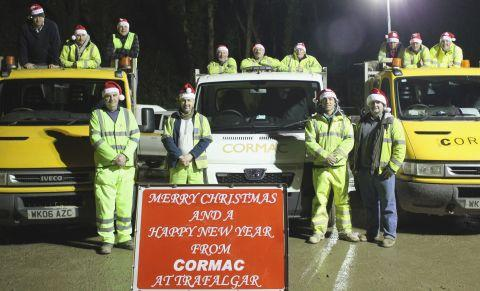 The Trafalgar Roundabout team from Cormac Solutions Ltd.