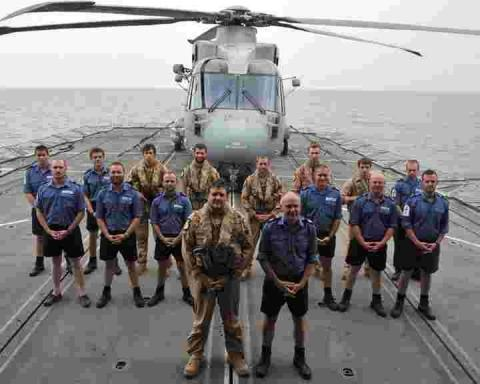 Culdrose sailors home for Christmas