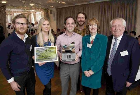 Camborne-based charity Community Energy Plus collected the award for 'best medium managed company'