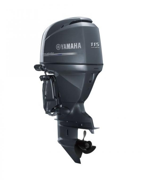 A Yamaha 115hp outboard, similar to the two stolen from boats on the Lizard Peninsula.