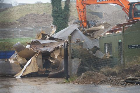 A former oil tank at the new Swanvale housing development in Falmouth. Credit: Ron Cameron.