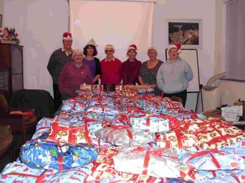 Falmouth Mission to Seafarers big Christmas wrap for sailors
