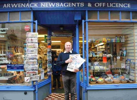 Falmouth newsagent's 50 years of front pages