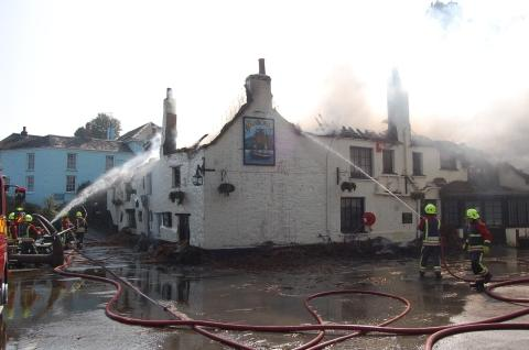 The 2011 fire gutted the popular inn.