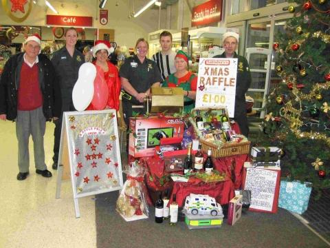 Supermarket raffle raises cash for Helston first responders