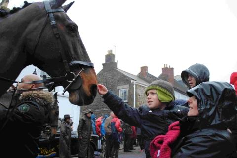 Hardy Helston hunters brave Boxing Day storm