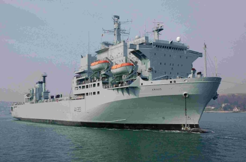RFA Argus left port to take part in military exercises