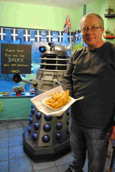 Marc Stonham with his Dalek