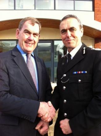 Police and Crime Commissioner Tony Hogg and Chief Constable Shaun Sawyer