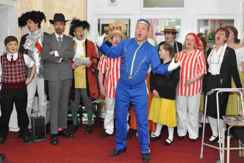 Helston panto cast show they care