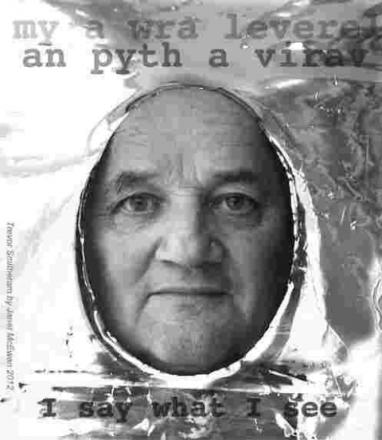 An image from the flyer promoting the Me a Wra Leverel an Pyth a Virav (I Say what I See) exhibition at Helston Museum today