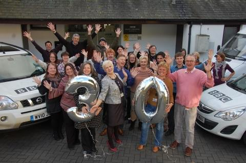 BBC Radio Cornwall staff celebrate 30th birthday
