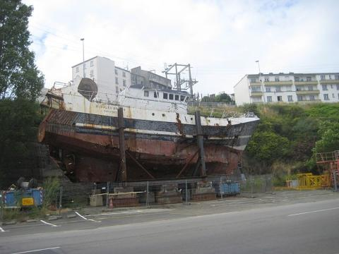 The recovered Bugaled Breizh. Picture: Anthony Dela