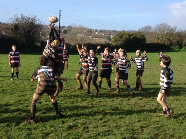 Falmouth's U12s in action against Penzance on Sunday