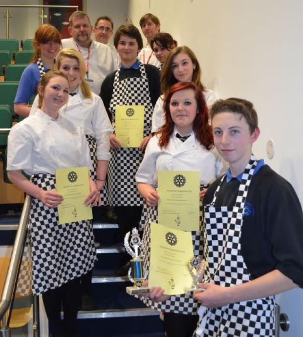Falmouth Packet: The young people taking part in the area finals.