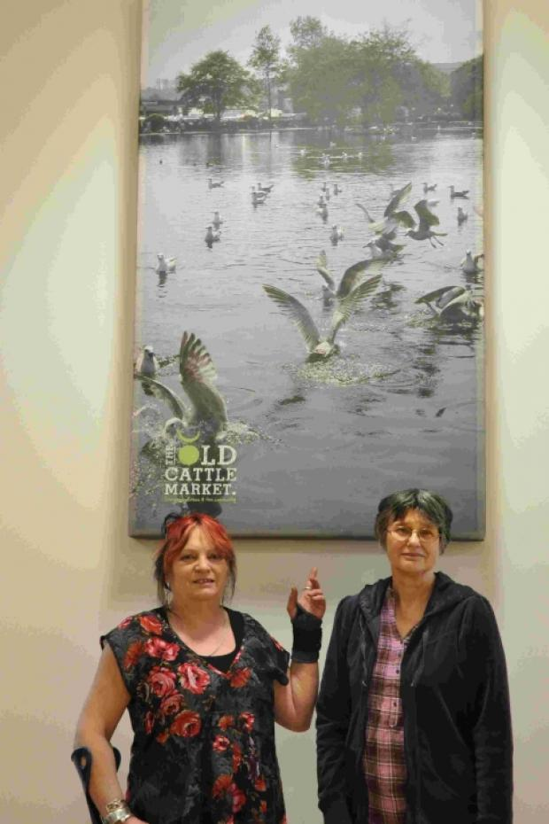 Competition winner Veritee Reed-Hall with Vicki Matthew from the South Kerrier Alliance