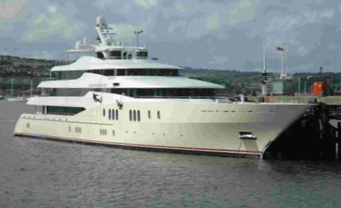 Billionaire's yacht to arrive in Falmouth