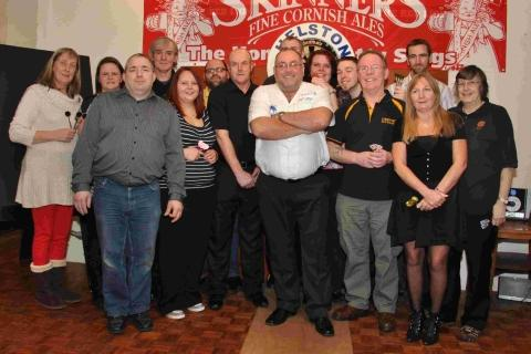 Legendary darts player takes on Helston's best
