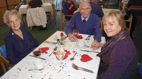 Love in the air at Helston nursing home's Valentine's dinner