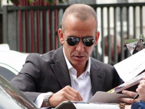 Falmouth Packet: Paolo Di Canio signing autographs outside Upton Park in 2010.