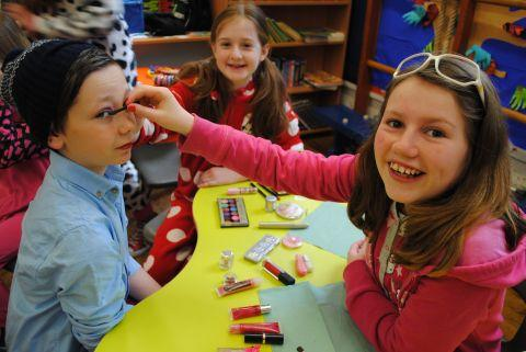 Falmouth Packet: Makeovers were carried out by pupils at Godolphin Primary School